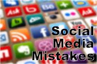 Social media mistakes image