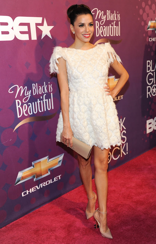 Eva Longoria at  BET's Black Girls Rock 2012 Show red carpet