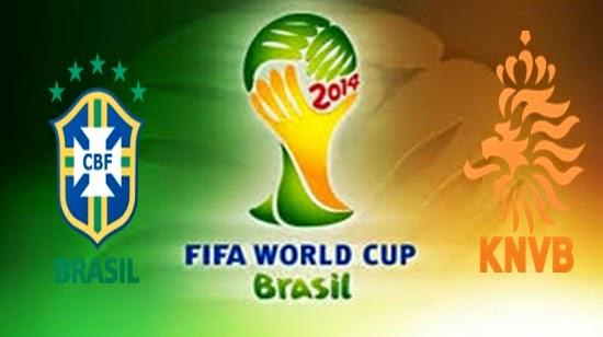 Prediksi Skor FIFA World Cup 2014 Terjitu Brasil vs Belanda jadwal 13 Juli 2014