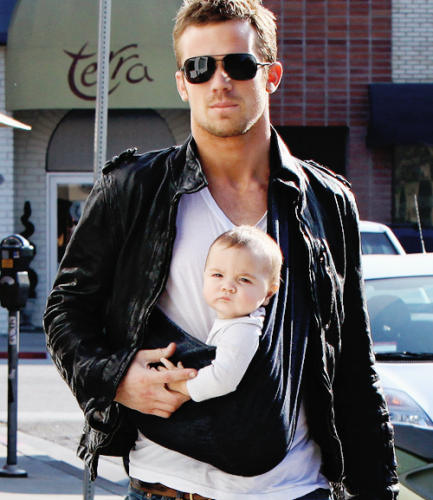 suave baby with man sunglasses