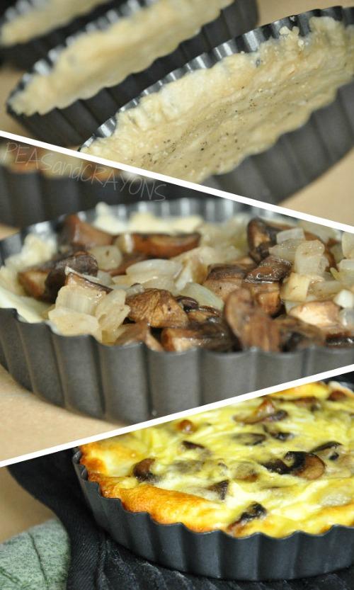 Super Simple Mushroom Swiss Veggie Quiche