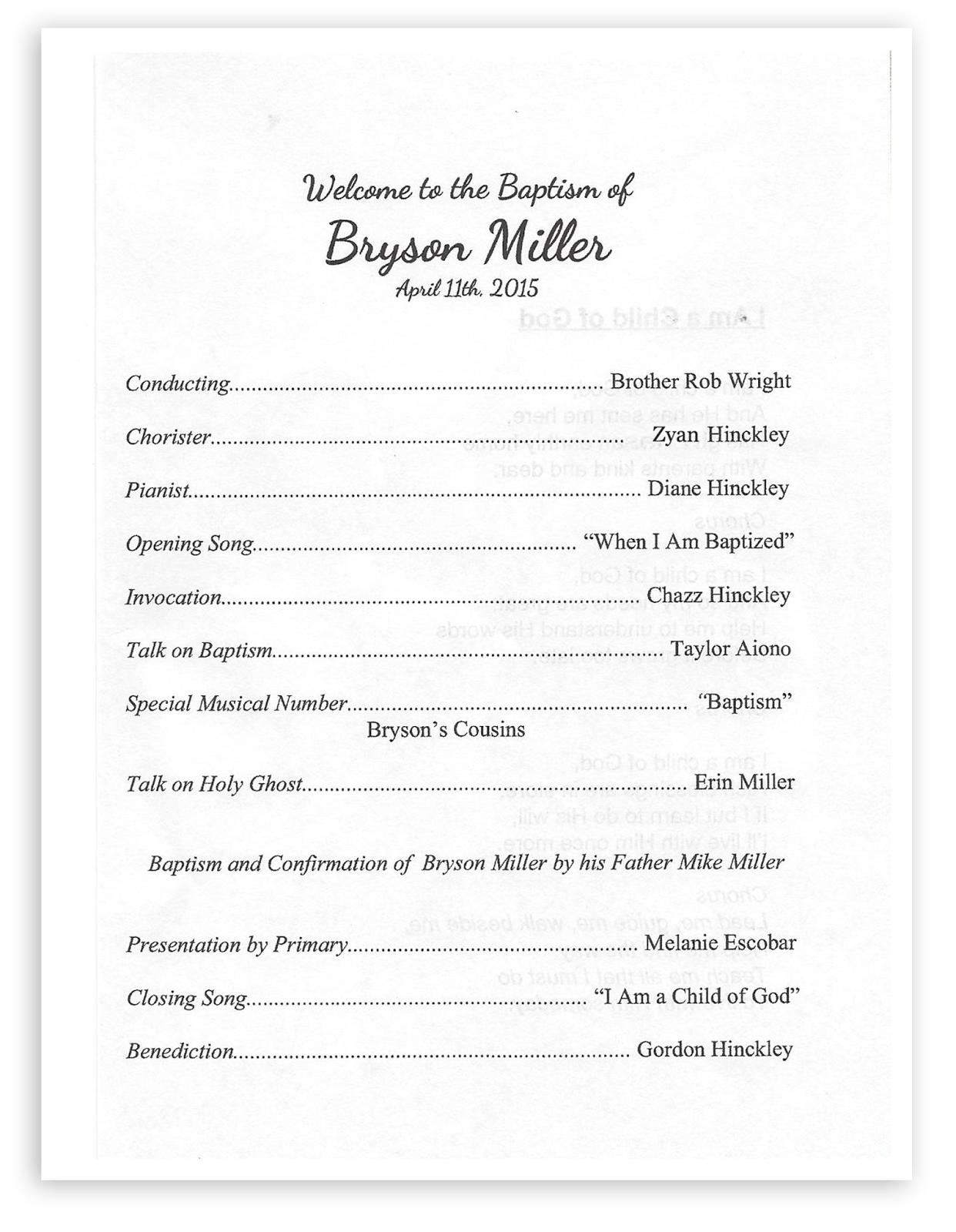 Baptism Program Template. party program template contegri com. a ...