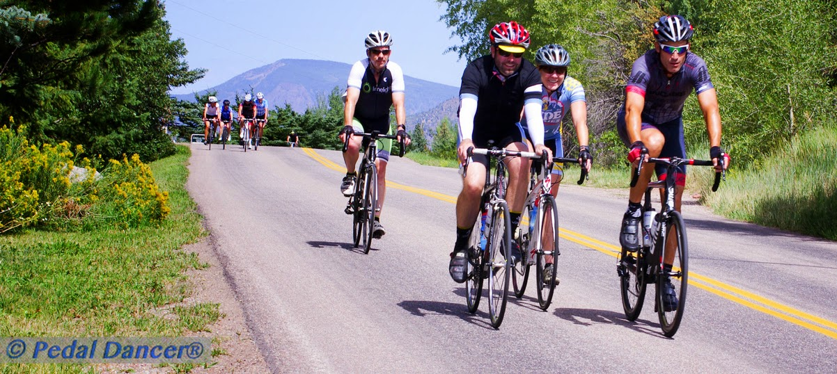 George Hincapie on a group ride in Colorado, Pedal Dancer