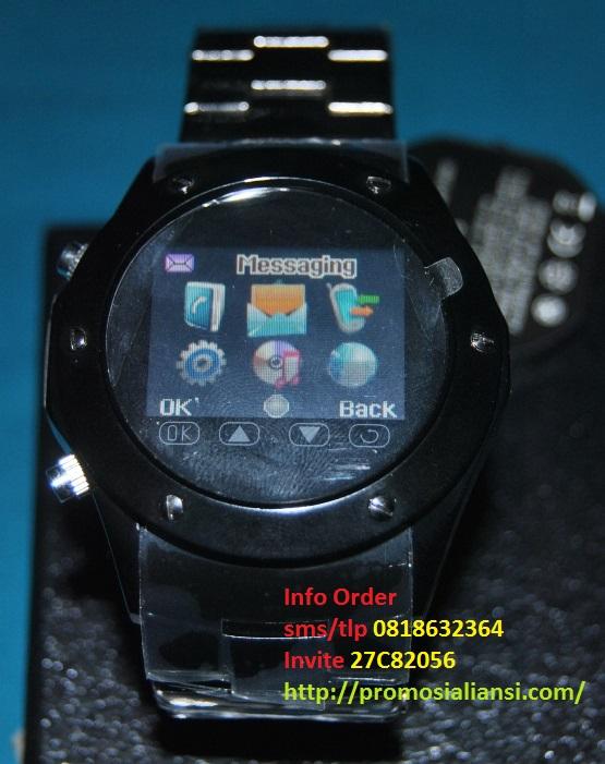 Jam Tangan HP Watch Phone Model MQ888 Black Stainless