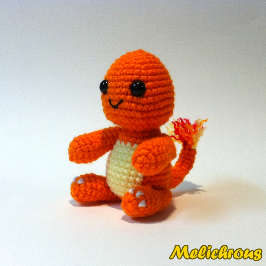 Amigurumi Pokemon Instructions : Melichrous: Charmander Pattern