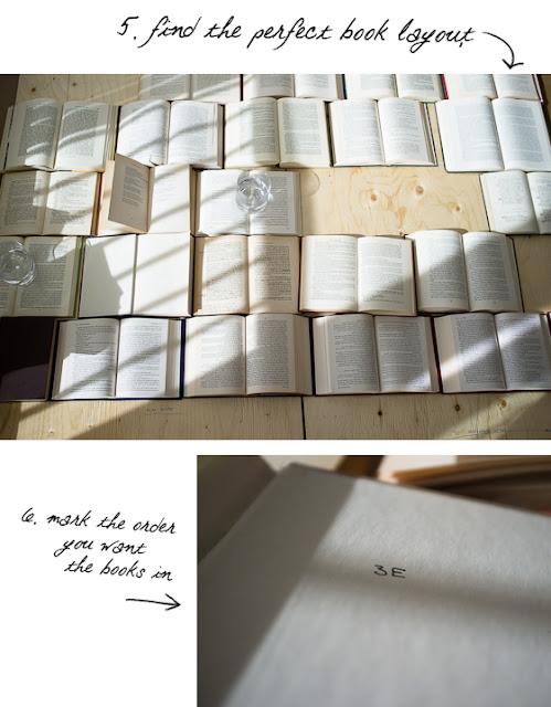 Zagłówek z książek DIY pomysł na sypialnię Eco manufaktura