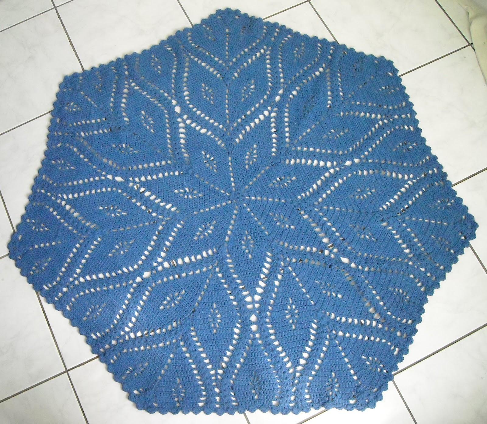 os croches da elsa tapete sextavado