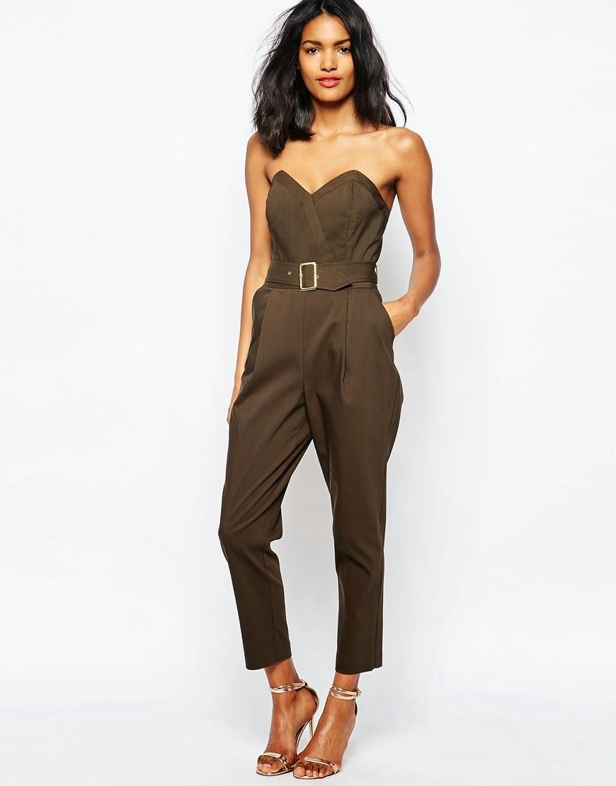 river island belted jumpsuit, khaki belted jumpsuit,