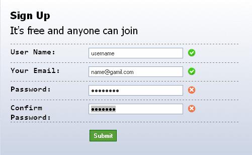 jQuery Ajax form validation in Codeigniter | TutsforWeb
