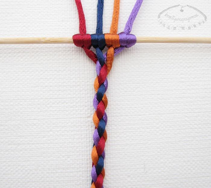 warkocz z czterech sznurków 10