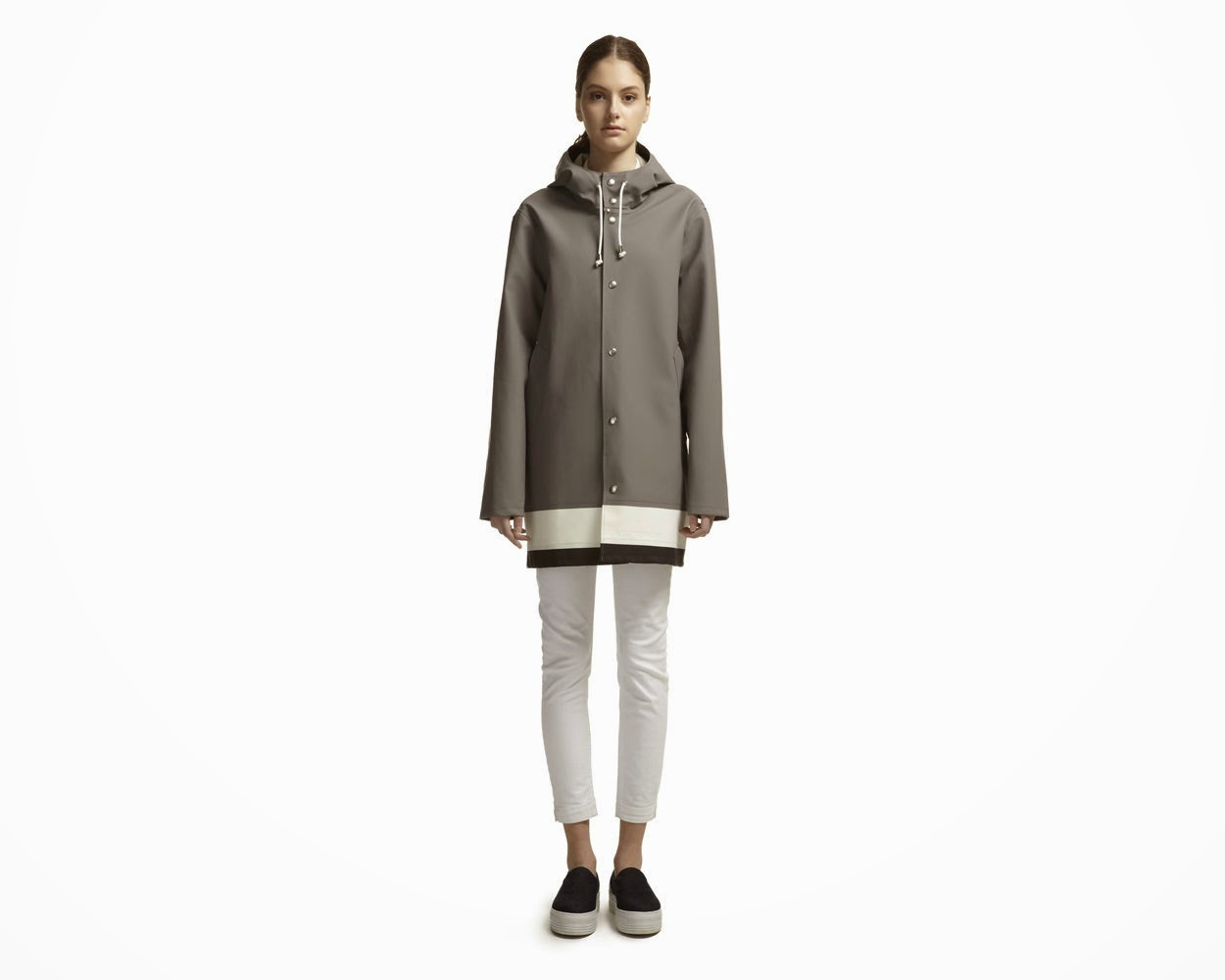 grey whistles raincoat
