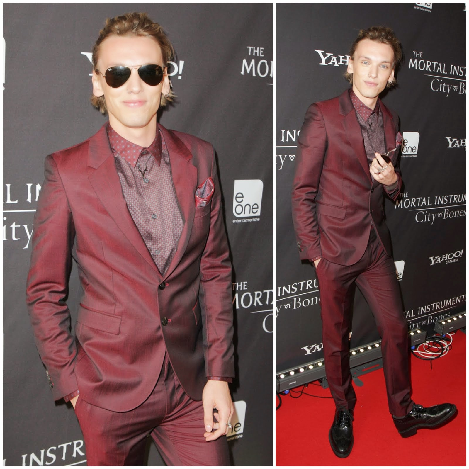 00O00 Menswear Blog: Jamie Campbell Bower in McQ Alexander McQueen - 'The Mortal Instruments' Canadian premiere August 2013