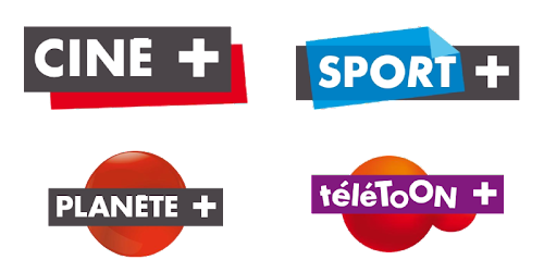 Logos for Ciné+, Sport+, Planète+ and Téléoon+.