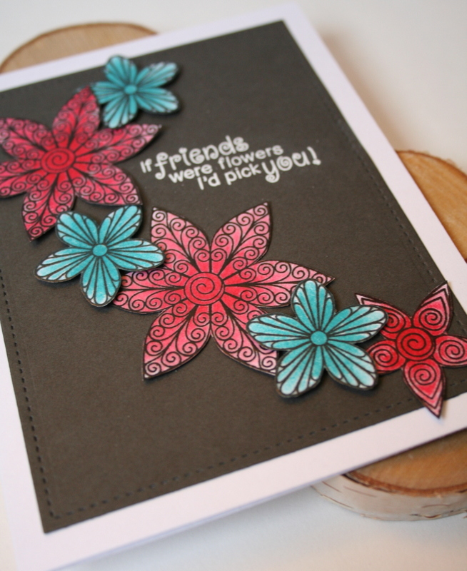 If Friends Were Flowers Card by Jess Moyer featuring Newton's Nook Beautiful Blossoms
