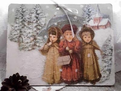 Zimowy obrazek i lawendowe słoiczki