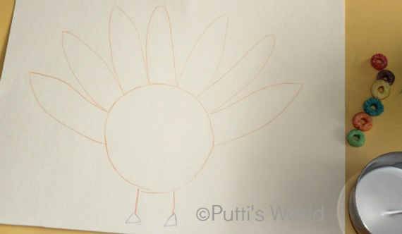 Thanksgiving kids craft Turkey