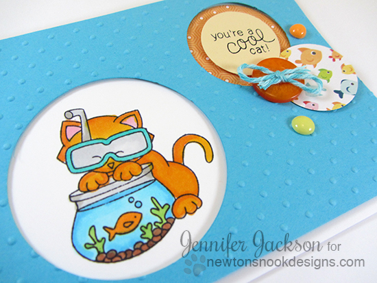 You're a cool cat card Birthday Card by Jennifer Jackson  | Newton's Summer Vacation Stamp set  | Newton's Nook Designs