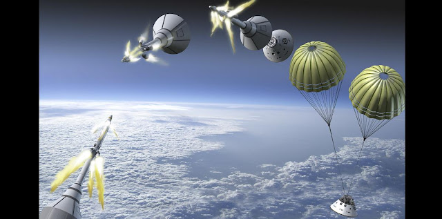Artist's rendering of Orion's Launch Abort System. Credit: NASA