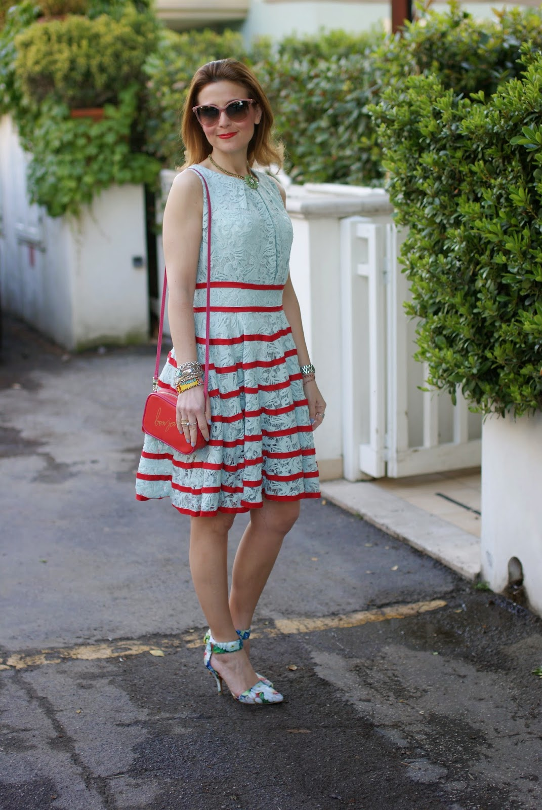 Jeffrey Campbell soltair pumps, chicwish lace dress, bonjour bag, Fashion and Cookies, fashion blogger