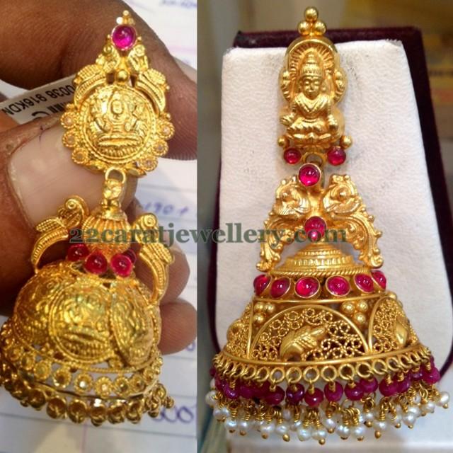 15 Grams Jhumkas For Kasulaperu Jewellery Designs