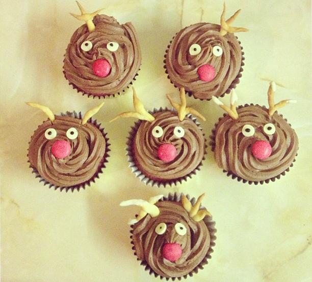 Bake of the Week: Red Velvet Rudolph Reindeer Cupcakes: Beauty ...