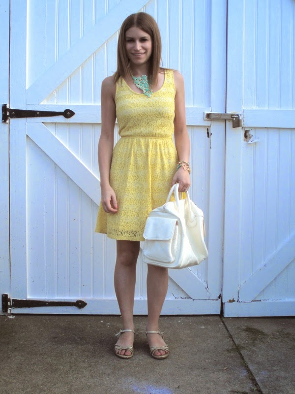 Yellow Lace Dress For