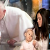MUST WATCH! Baby's brain tumor shrunk after the Pope kissed her head!