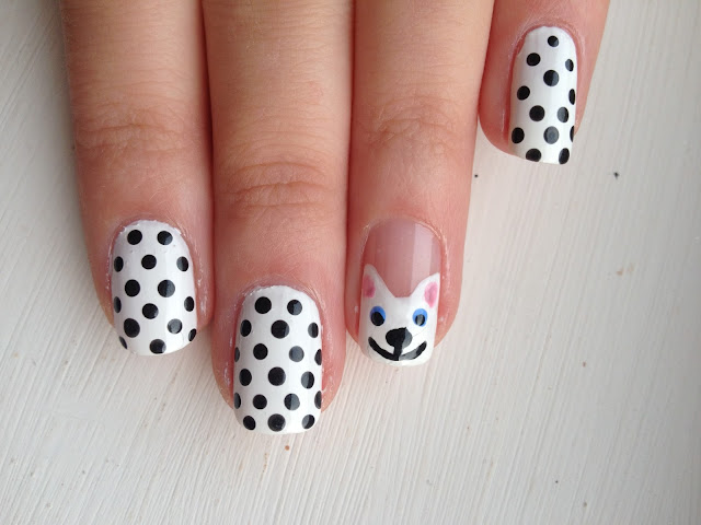 Nail Art Cats Kittens Polkadot Animals Cute Pretty