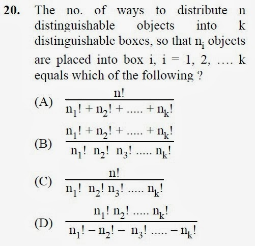 2012 December UGC NET in Computer Science and Applications, Paper III, Question 20