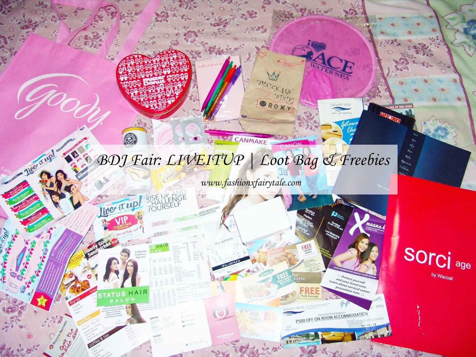 BDJ Fair: LIVEITUP | Loot Bag & Freebies