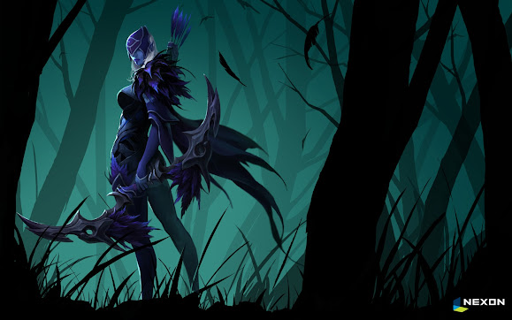 drow ranger traxex set girl dota 2 hero game