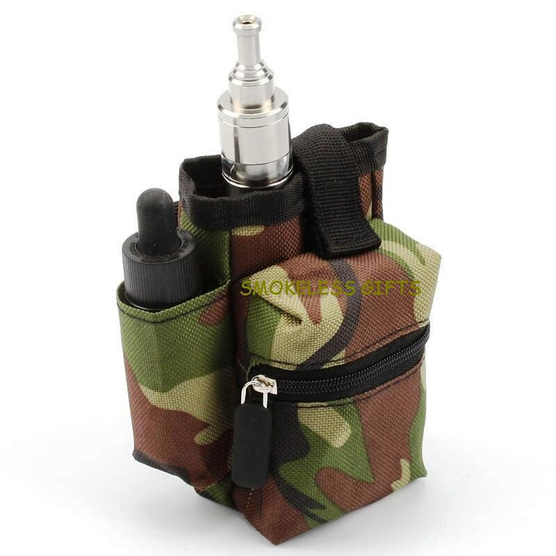 E-Cig Rda Box Battery Accessories Camouflage Belt Case 120mm x 100mm x 60mm