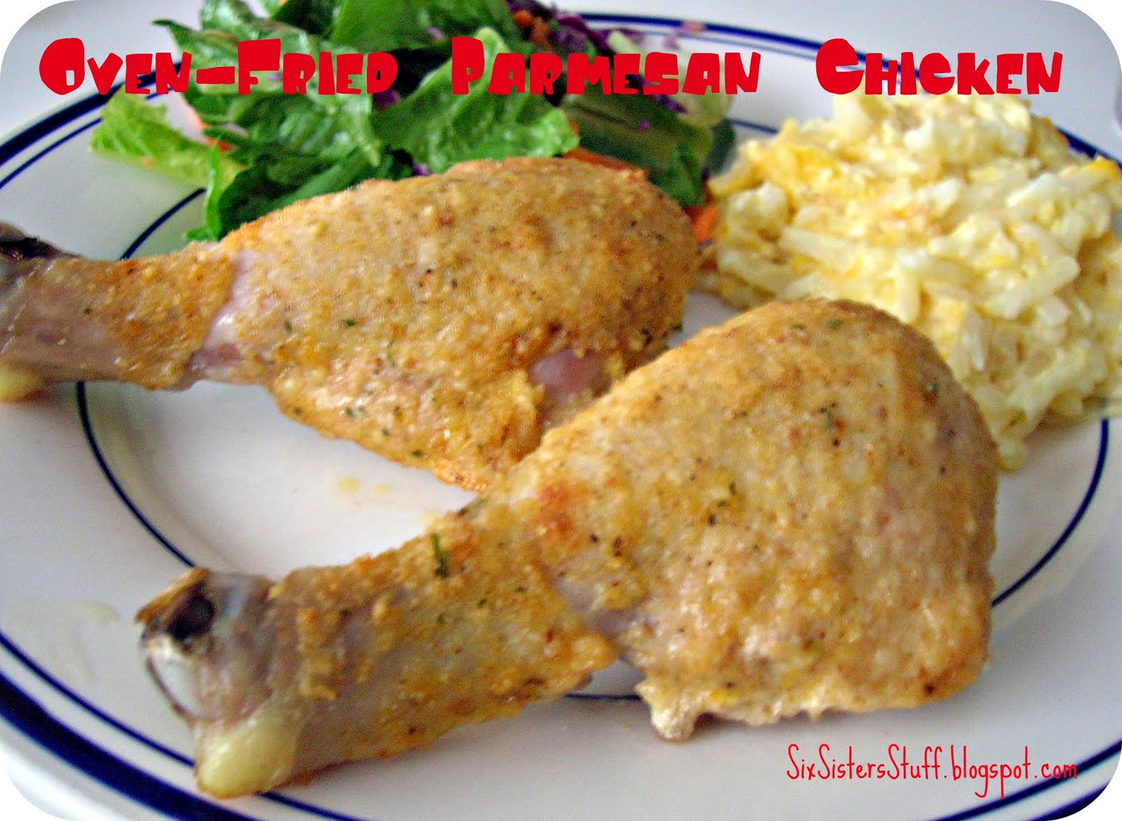 Oven-Fried Parmesan Chicken Recipe / Six Sisters' Stuff | Six Sisters ...