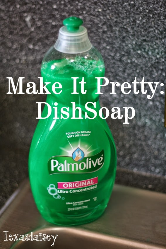 Make your dishsoap pretty so you can leave it out on the counter
