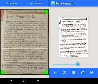 Kamera android sebagai Pengganti Scanner