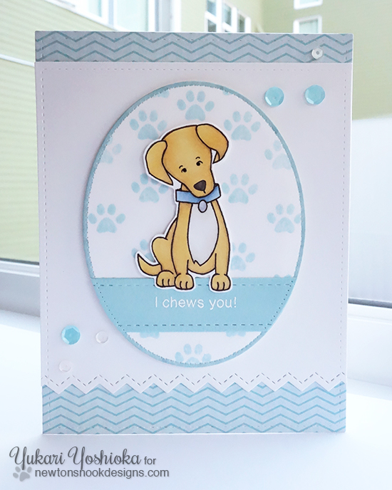 Labrador Dog Card by Yukari Yoshioka | Fetching Friendship Stamp set by Newton's Nook Designs