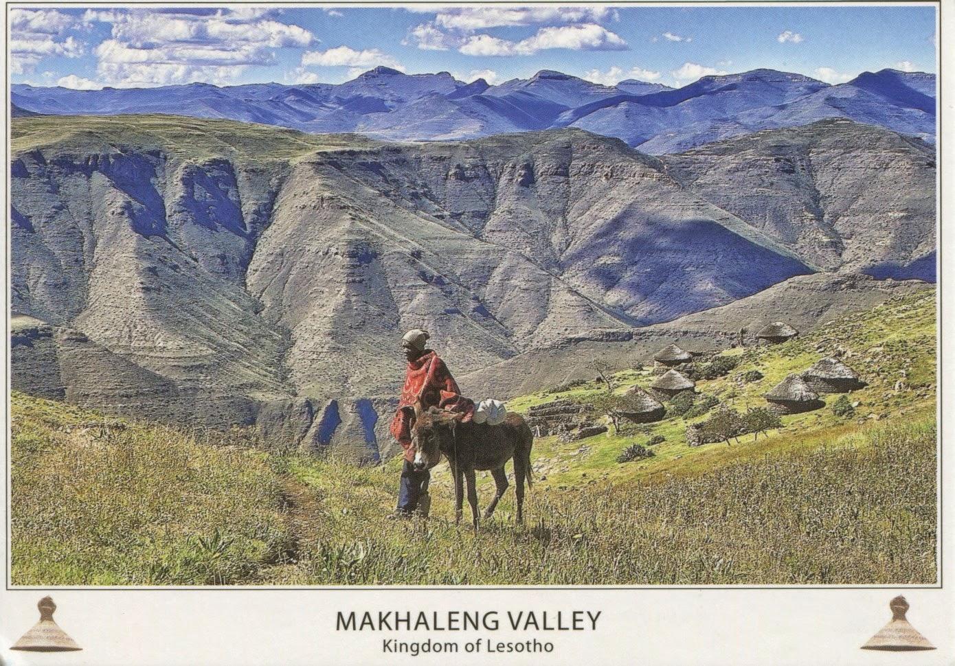 postcard, lesotho