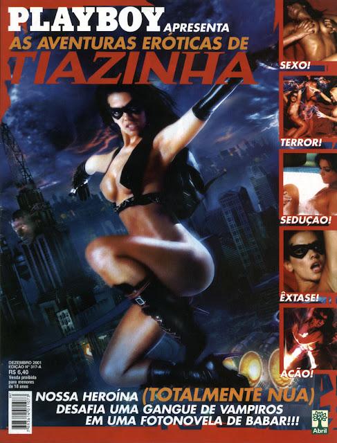Confira as fotos das Aventuras Eróticas de Tiazinha, Suzana Alves, Edição Especial da Playboy de dezembro de 2001