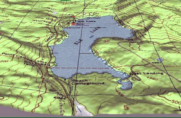 how to read contour lines on lake map