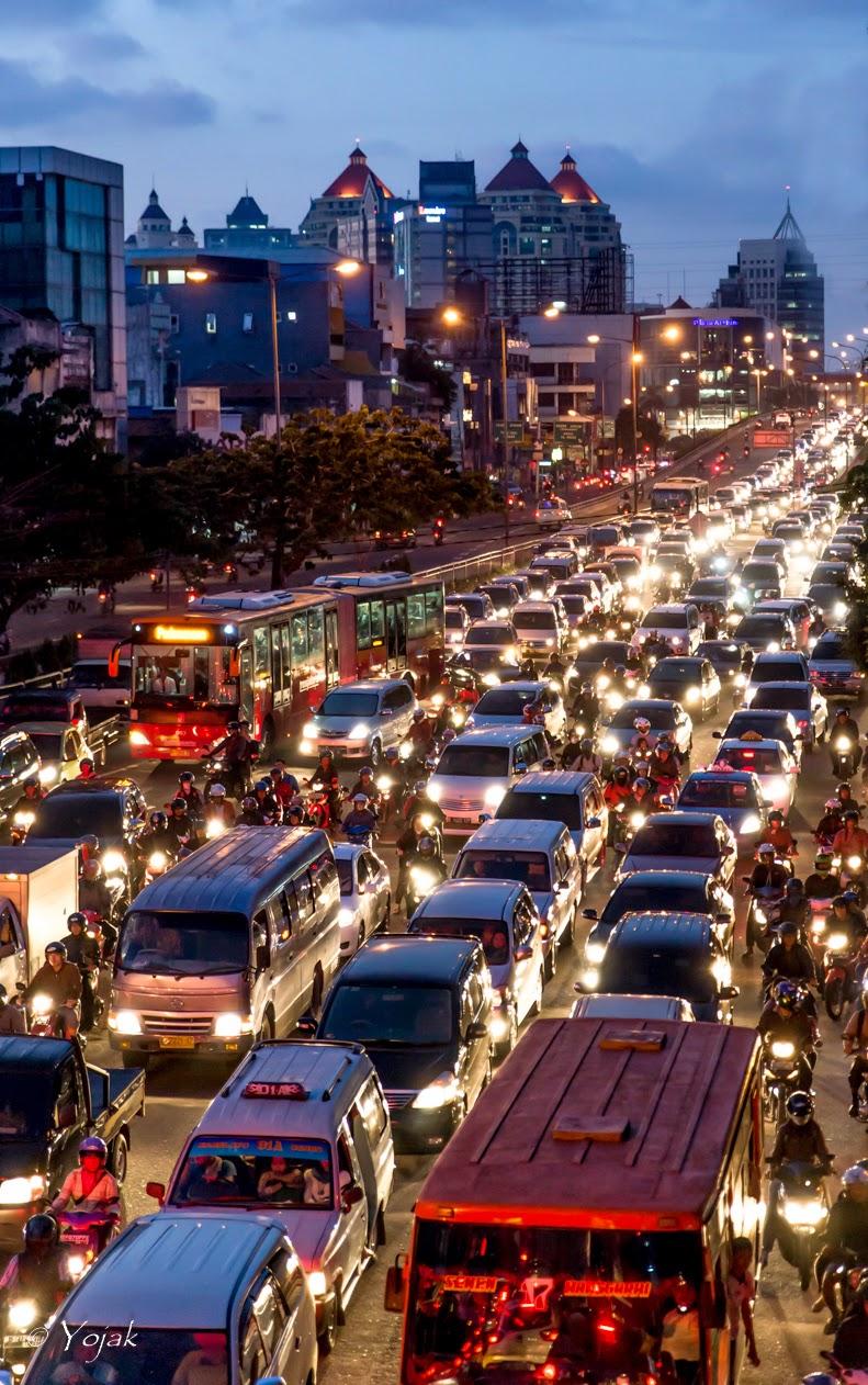 embouteillages à Jakarta