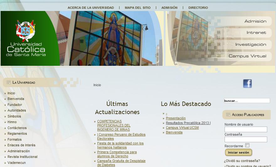 Resultados Examen General Universidad Catolica Santa Maria USCM 2013