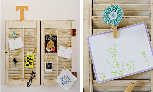 Window Shutter Wall Display: Our 8 Favorite Upcycled DIY's for Your Home