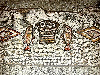 Mangocho israel tiberiades buenaventuranzas tabgha for Loaves and fishes san jose