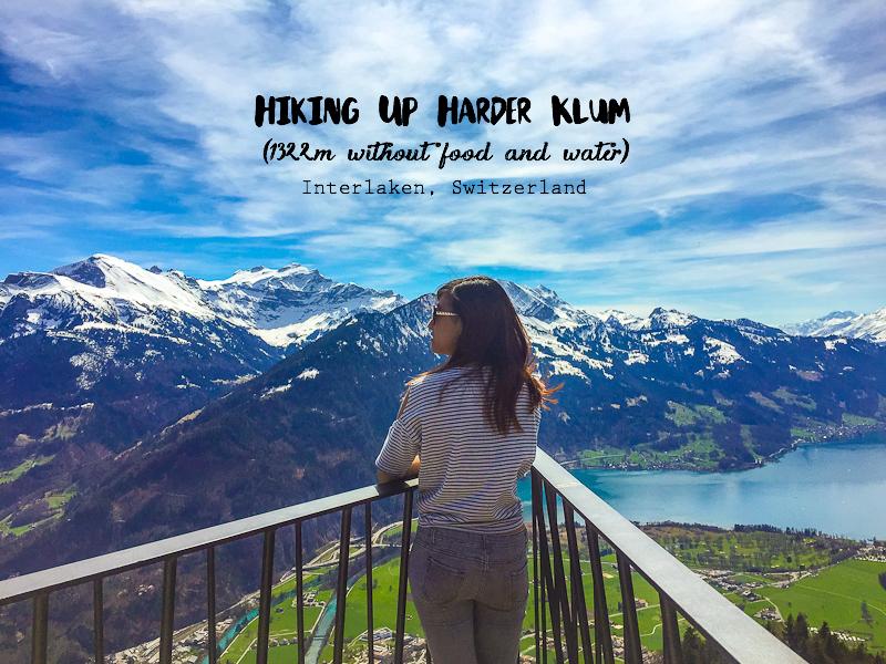View from the top of Harder Klum in Interlaken Switzerland