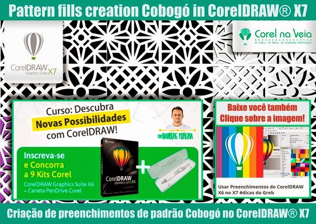 Preenchimentos de padrão Cobogó usando CorelDRAW X6-corelnaVeia