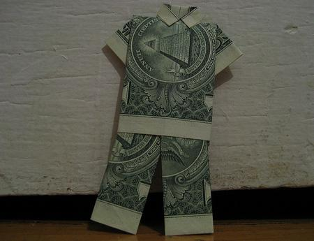 Dollar Bill Origami, Origami Art, Origami Dollar Dude