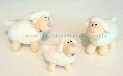 doces modelados ovelhinha carneirinho fazendinha
