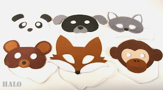 Make felt animal mask