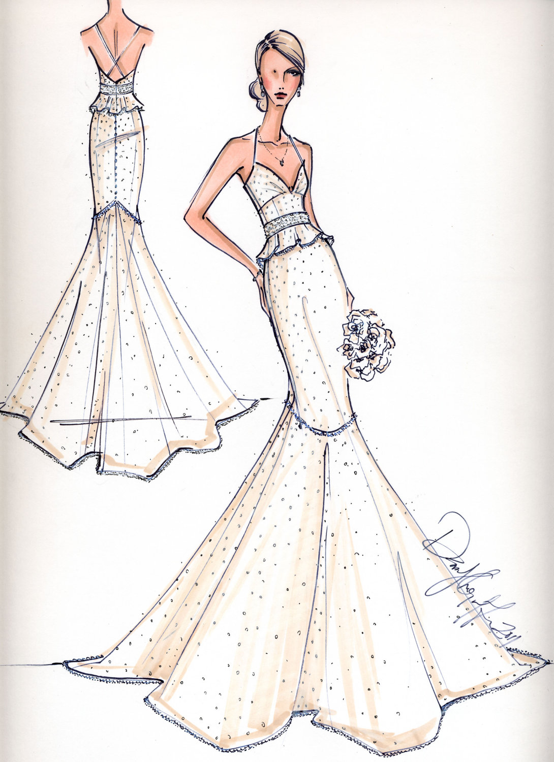 Buy Wedding for Sketches and party dresses pictures picture trends