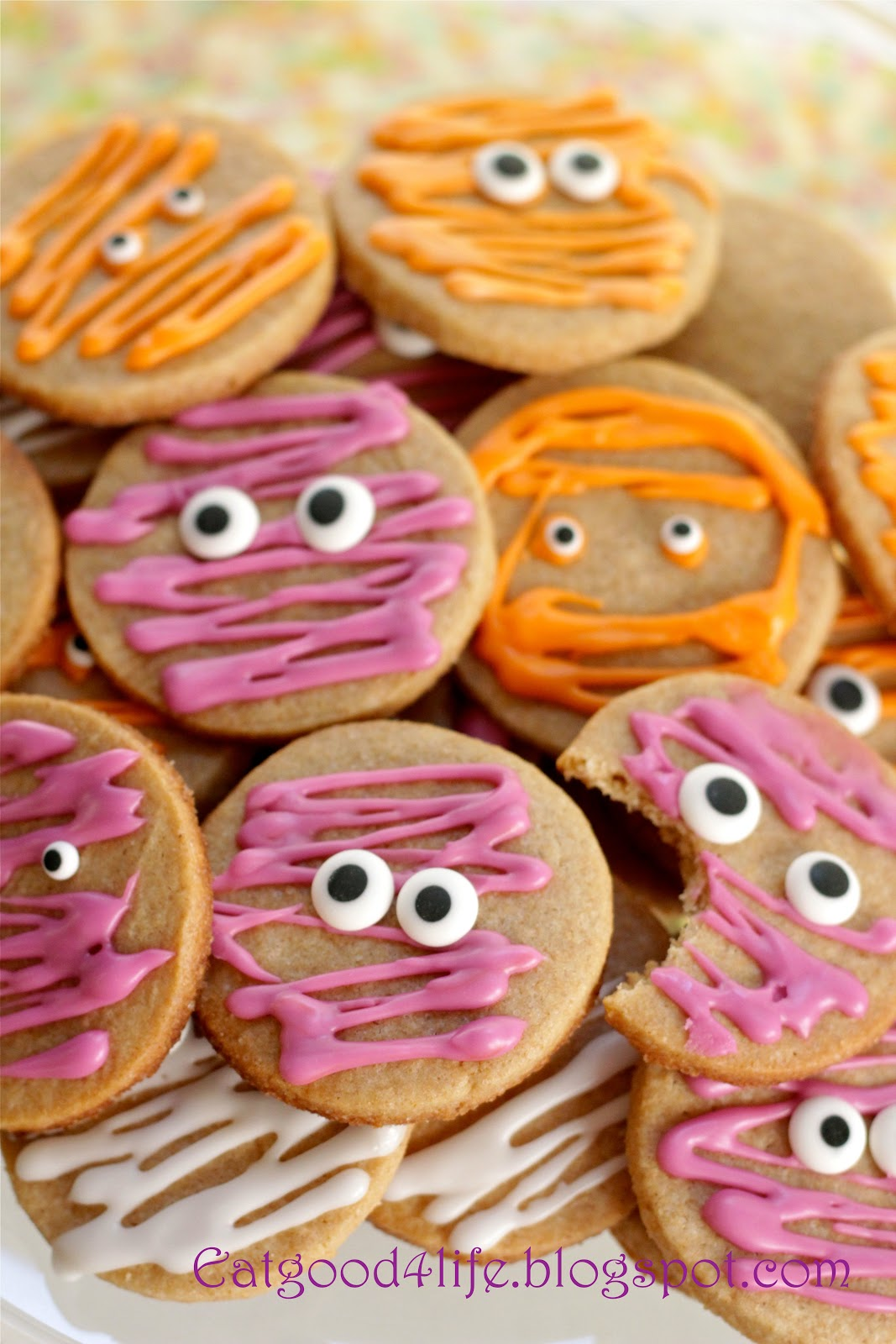 100% whole wheat halloween sugar cookies